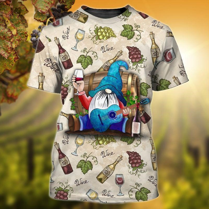Drunk Gnome Play Guitar Tee of Trends Store
