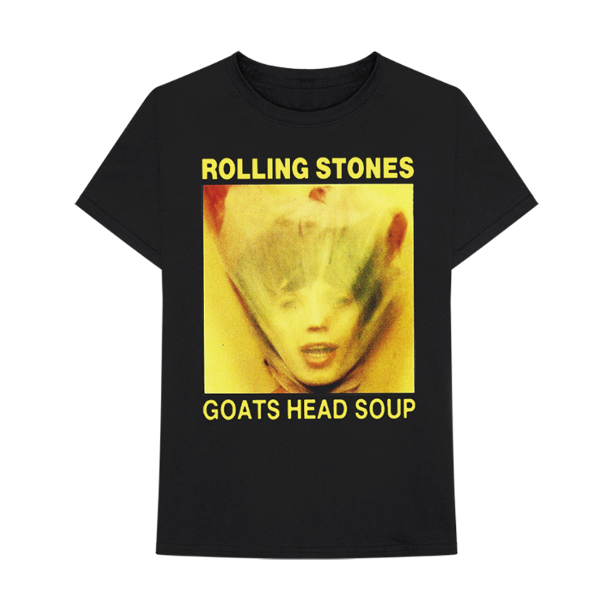 T shirt with Goats Head Soup album cover design of rolling stones