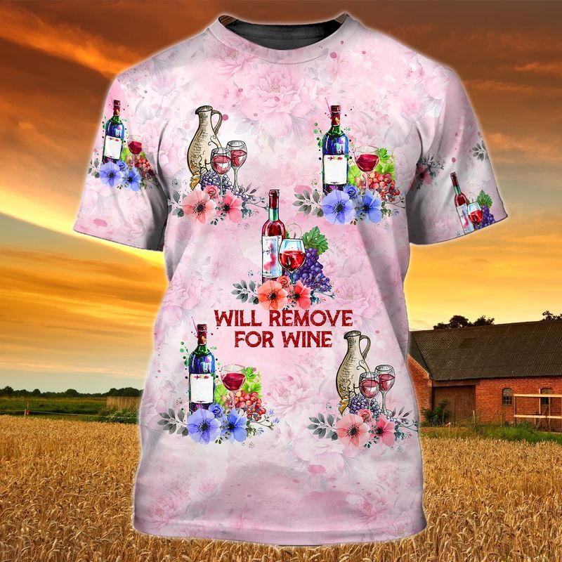 Will Remove For Wine Tee of Trends Store 3D printed