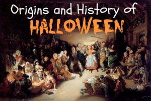 An illustration of old Halloween origins and history