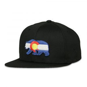 An unique Colorado hat of grizzly bear