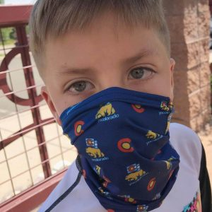 Little boy with an amazing Colorado mask