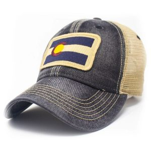 Vintage Colorado hat with flag patterns