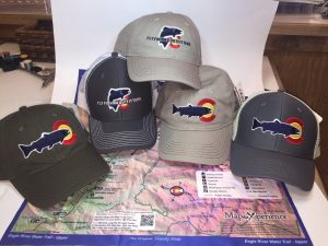 Many trout designs of Colorado hat