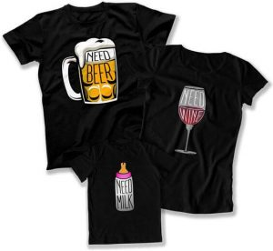 The suitable drink for mom dad and kid t shirt