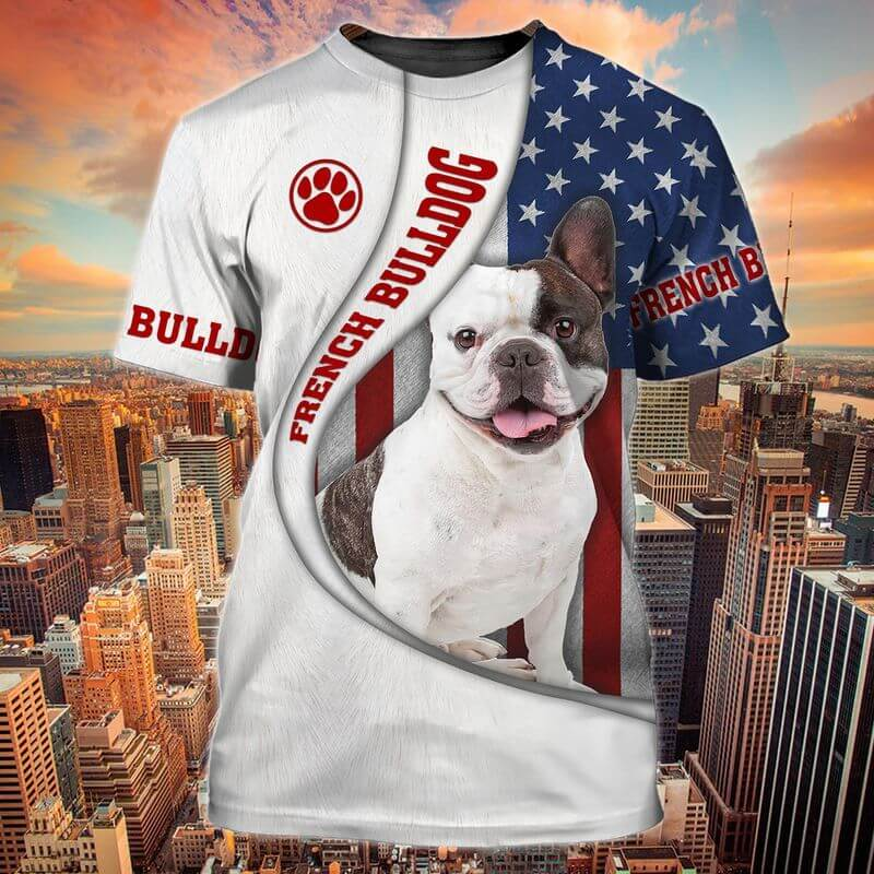 French Patriotic T-Shirts with the bulldog