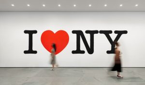 I love New york panting in the city