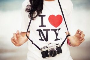 The True Story Of The I Love New York T-Shirt in picture of girl wearing it