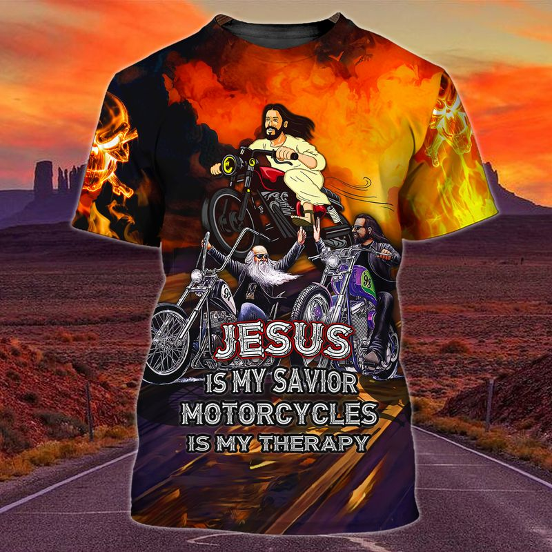 Funny motorcycle T shirt for Jesus devotee