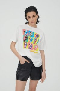 Multi Lips and Tongues Rolling Stones T-shirts