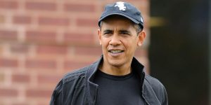 Sox Barack Obama hat while he was on the street