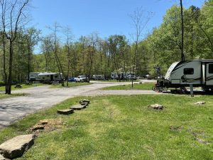 One of the RV camping sites near Union Park in Pitchfork Music Festival