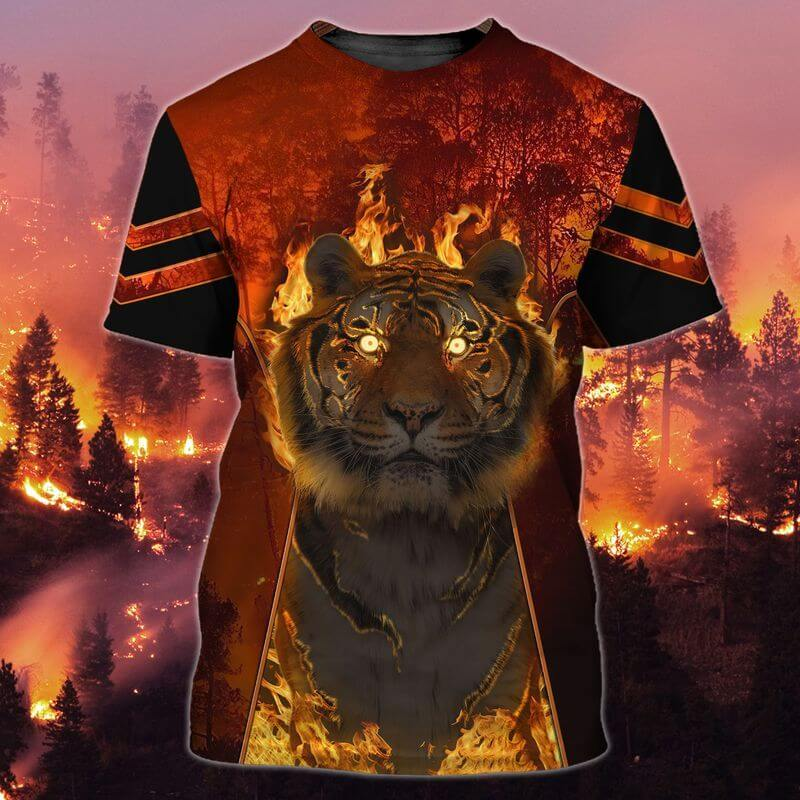 Strong tiger in fire, an Trends Store's Chinese New Year T shirt