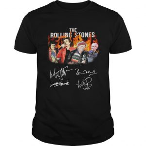 Signatures and images of Old Current Members Of The Rolling Stones T-shirts