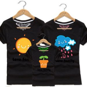 Cute mom dad and kid t shirt for Parent's day