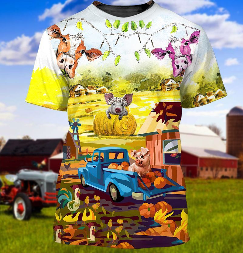 Pumpkin Farm Cows and Pigs for Best T-Shirts To Wear To The Pumpkin Patch