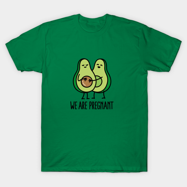 Spend for for avocado lovers with t shirt for pregnant mom and dad