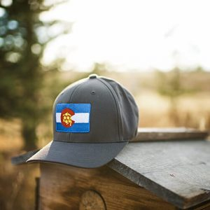 colorado flag fitted hat for outdoor activities