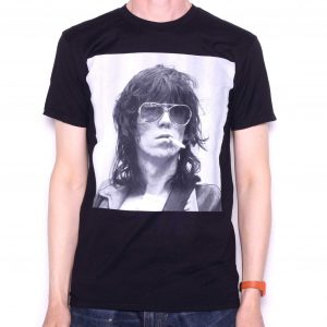 Keith Richards famous member of Rolling Stones T-shirts