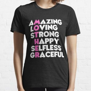 amazing, loving, strong, happy, selfless, and grateful crossword Mom and Dad T Shirt For parents Day