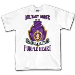 White Military Order Of the Proudly Served Purple Heart T Shirt