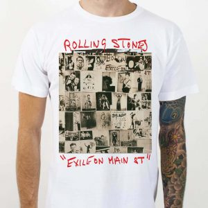 Exile on Main St. album cover of the Rolling Stones T-shirts