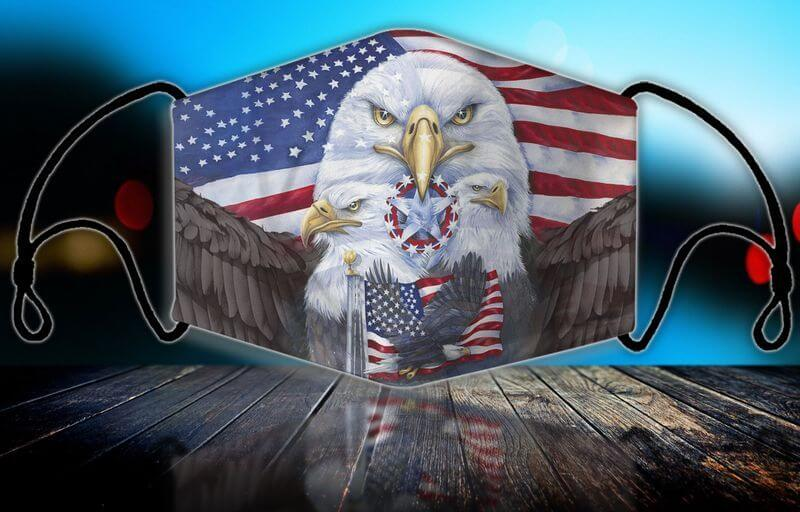 The native American eagle mask shows your love for the USA