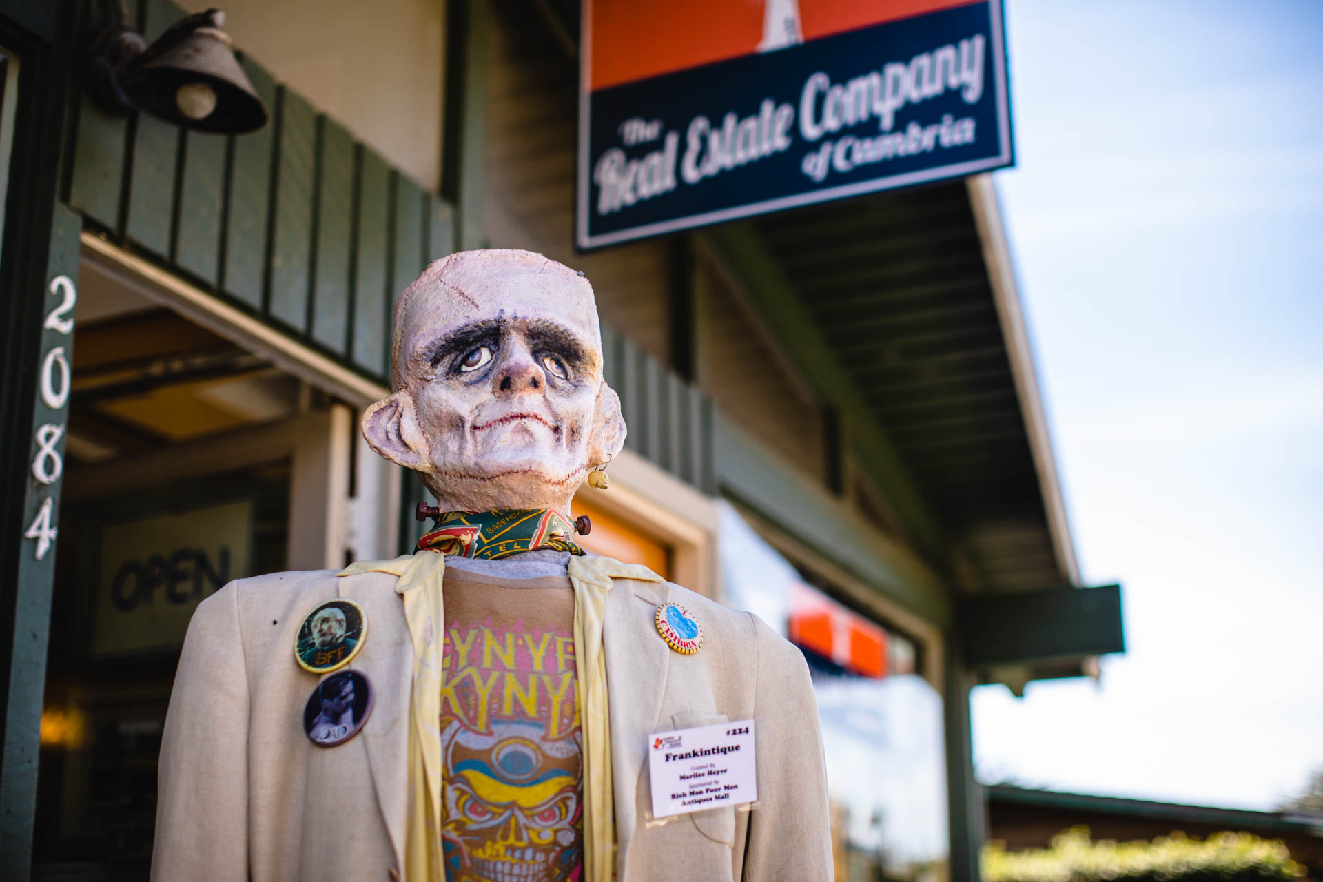 The Scarecrows are displayed throughout the town from October 1 through 31