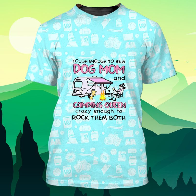 Dog Mom and Camping queen Camping T-shirts