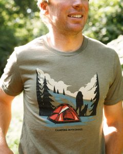 Amazing camping t-shirt designs for dog lovers.