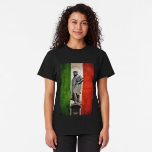 The christopher columbus shirt with Indian flag.