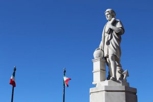 Let's see The statue of Christopher Columbus was erected by citizens to remember his merits