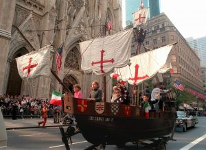 Let's look at A Street Parade in America on Columbus Day