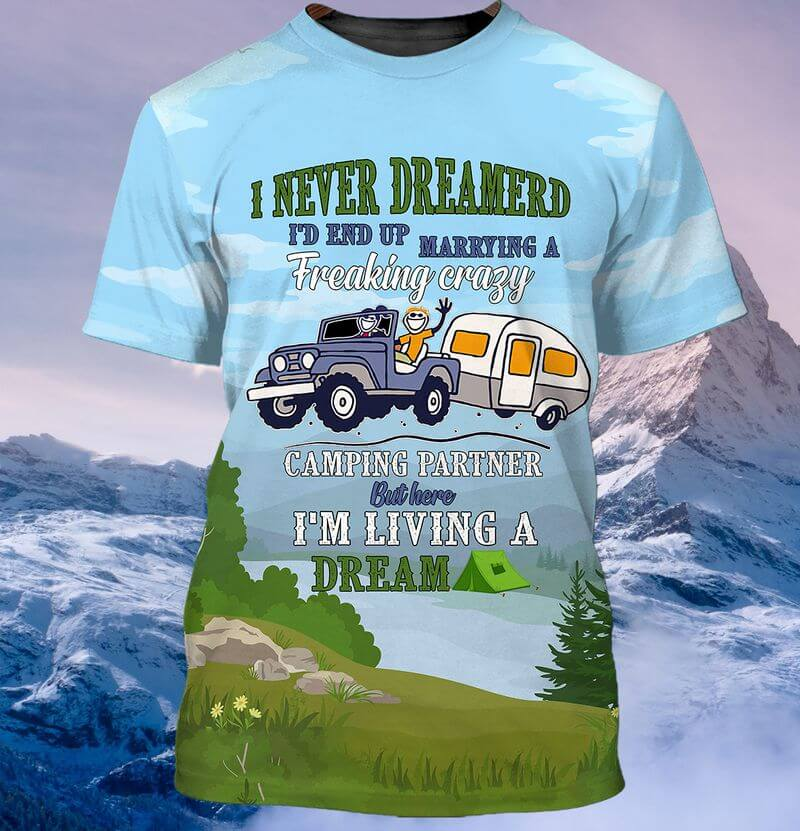 Couple Marrying Partner Camping T-shirts printed 3D
