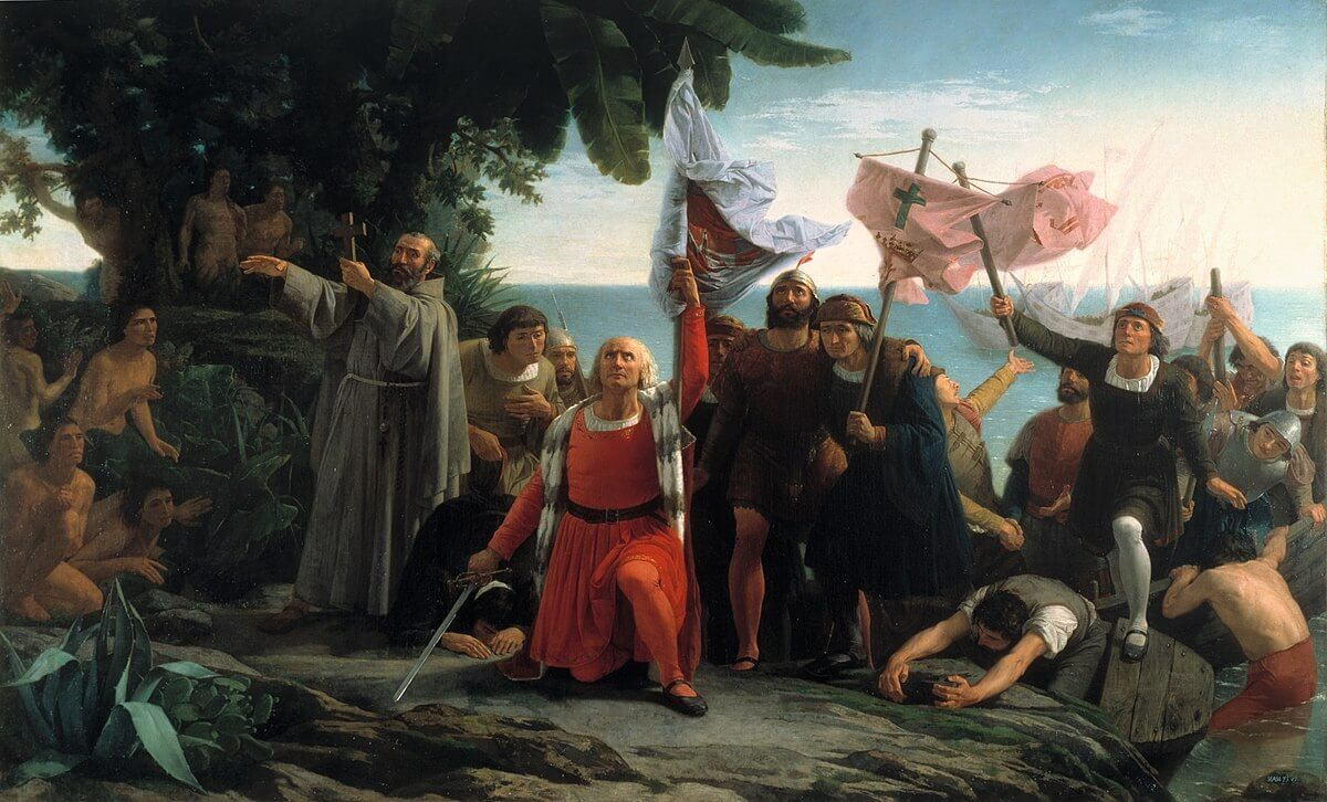 Christopher Columbus landed the Americans