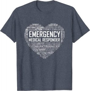 All first responders color flag t shirt for the best outfit.