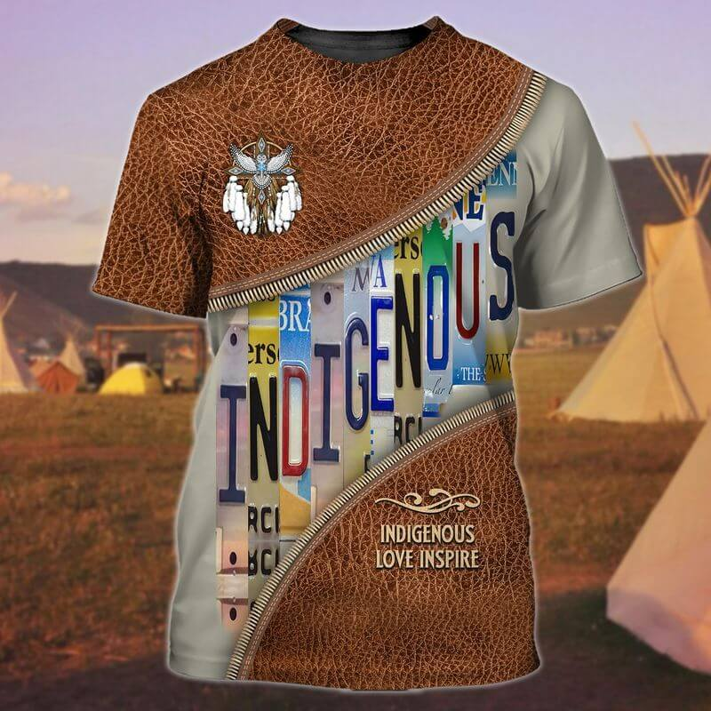 Love Inspire Indigenous Day T-Shirts 3d printed