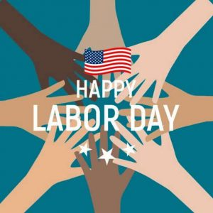 Happy labor day in USA poster