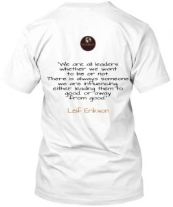 leif erikson shirt with deep meaninful quote