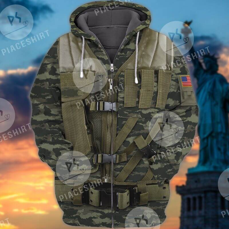 A 3D Military First Responder hoodie to the armed force armies