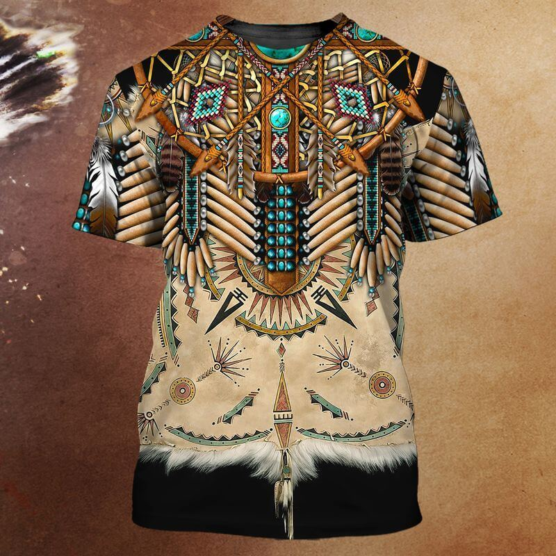Native Patterns American Indian T Shirt 3D printed