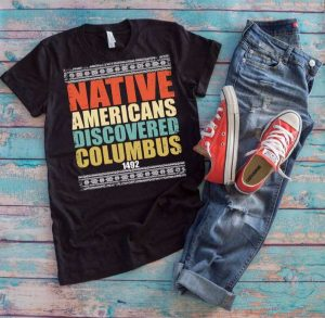 The colorful Columbus shirt for women and men.