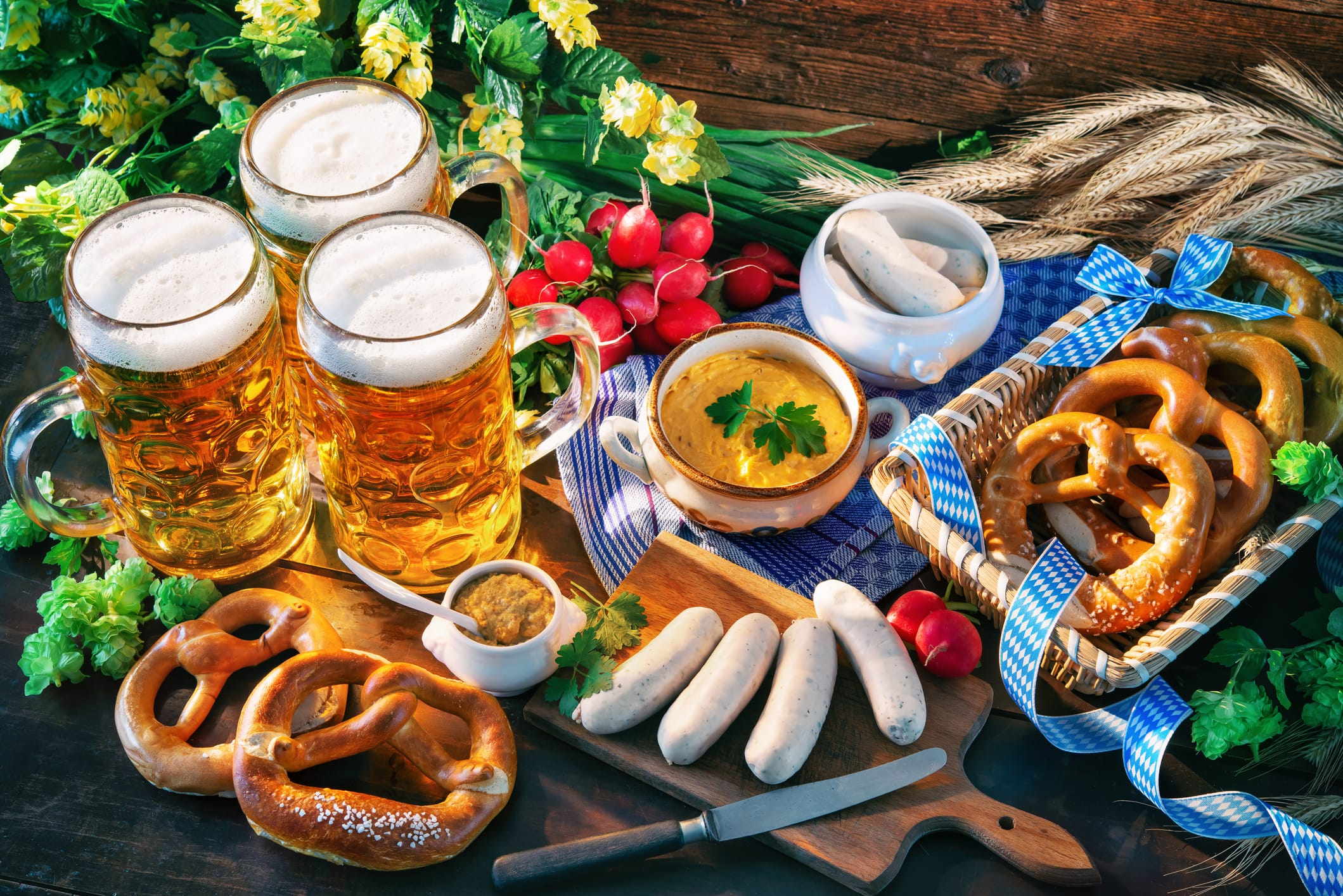 Oktoberfest is truly a big party with a variety of food