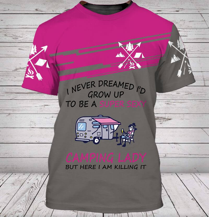 Amazing camping t-shirt designs for camping ladies.