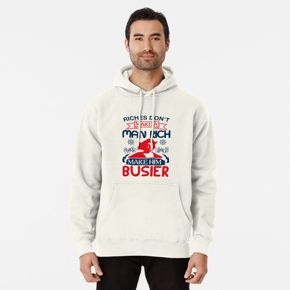 white Famous Quote Of Columbus Sweatshirt With Hood