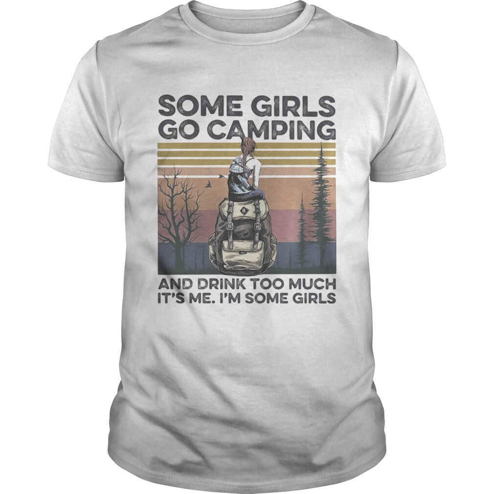 Some Girls Camping Graphic T-shirt 2D white tee for women