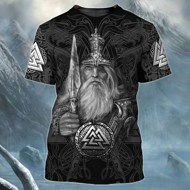 Mighty Viking Leif Erikson Day T Shirtwith vivid 3D printed