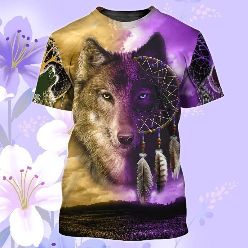 Amazing wolves Indigenous Day T-Shirt for Men