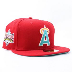 The California angels hat is for baseball lovers.