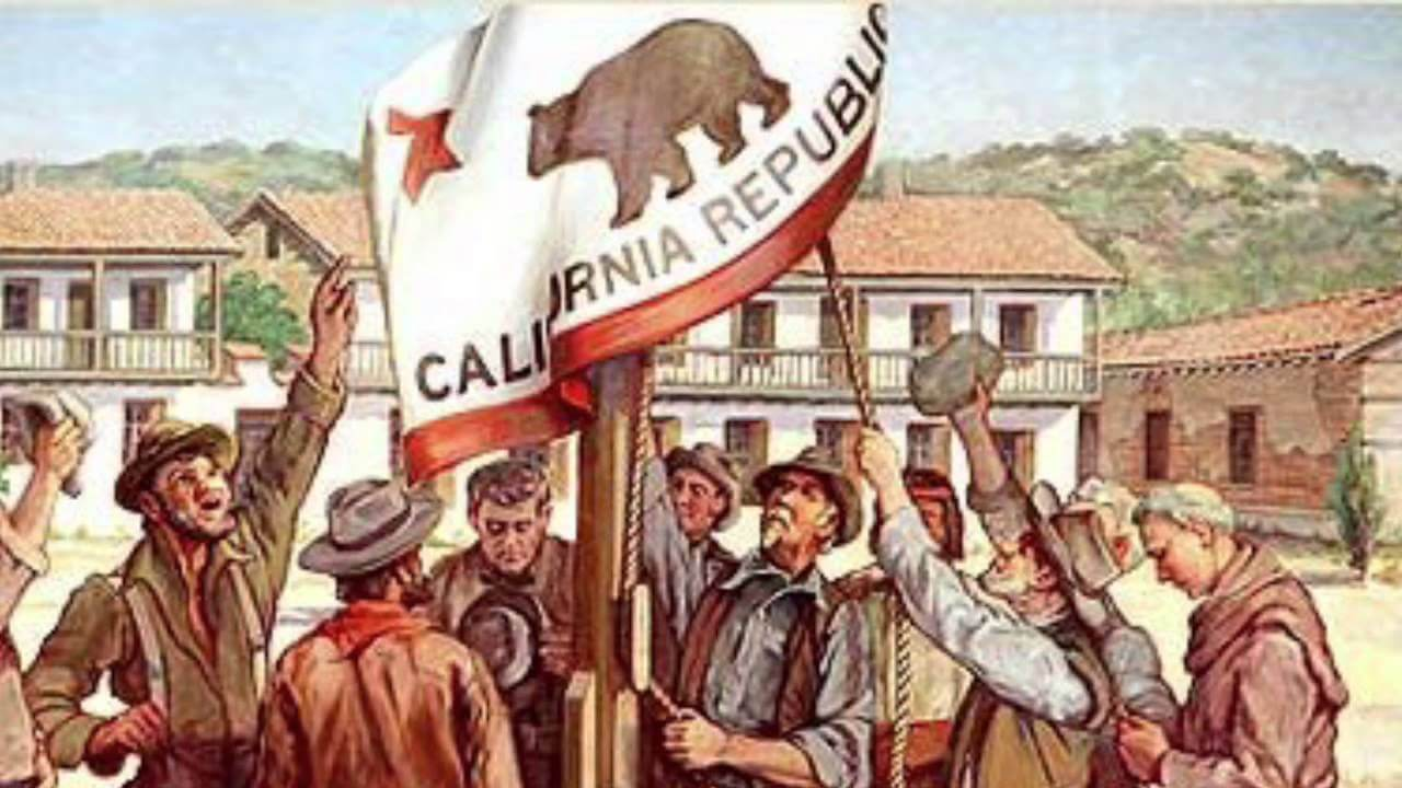 California Admission Day in 1846 history painting